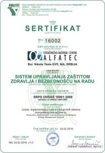 OHSAS-16002 v1.0 Alfatec
